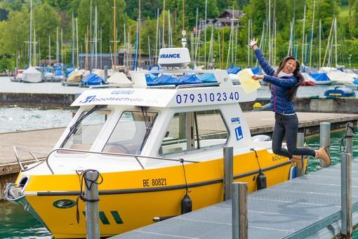 Bootsprüfung am Thunersee bei Gehri Bootsfahrschule erfolgreich bestanden